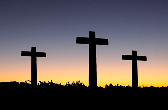3 crosses at dawn